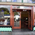"""Zocalo's in San Leandro. """"Never doubt that a group of committed people can change the world..."""" by Margaret Mead is engraved near the door."""