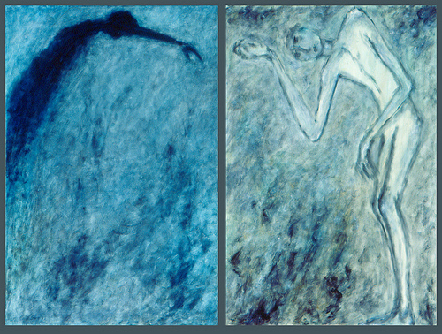 Diptych - Sorrow and Suffering (oil on canvas)