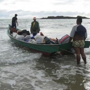 Boat Lukas took from Sematan to Telok Melano