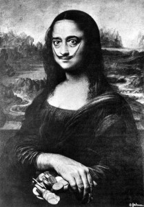 Salvador Dali as Mona Lisa