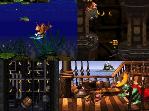 Various levels of Donkey Kong