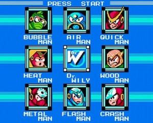 Game selections in Mario Bros.