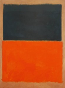 Mark Rothko's Green and Tangerine on Red