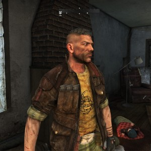 Connor, strong muscular male character with his shirt open