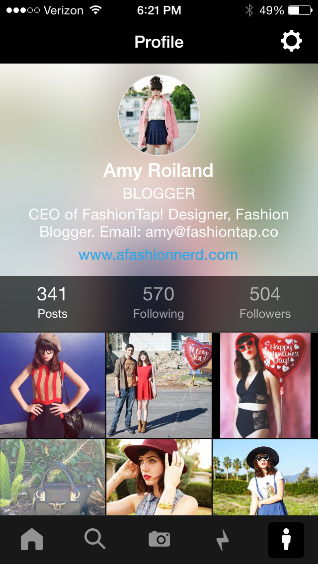 FashionTap profile
