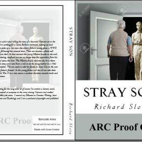 ARC copy of the cover of Stray Son