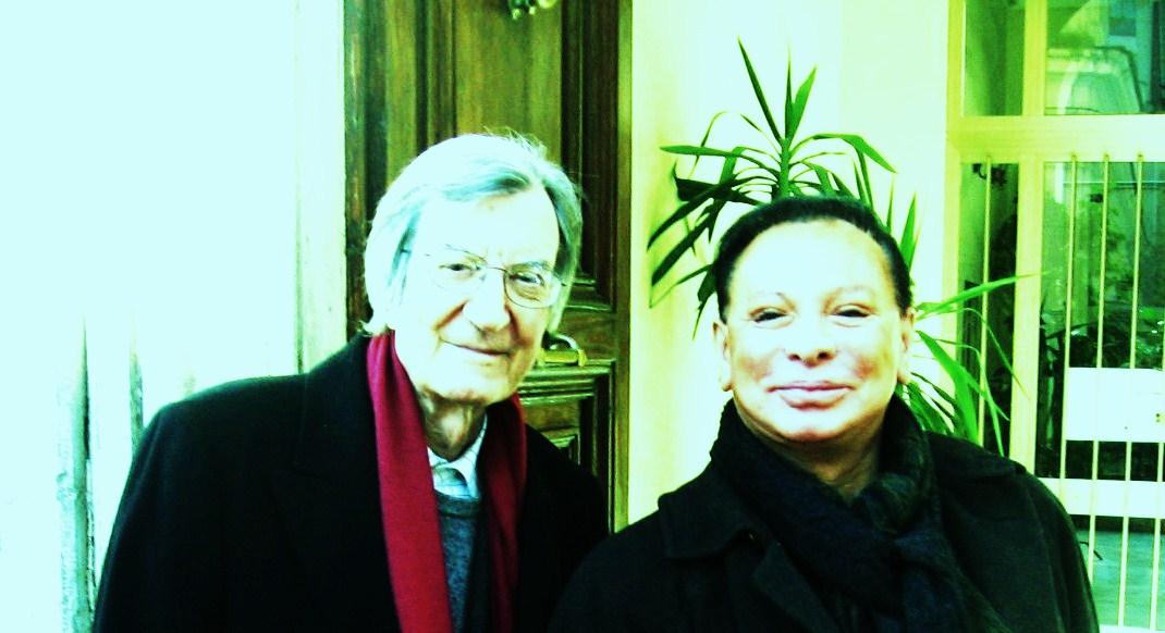 Maestro Carlo Lizzani & Count Federico Wardal, best cinema & best theatre together