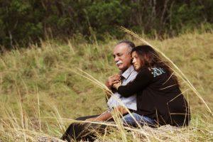 """(Still from """"Lost – Maravi"""" featuring Indian actors K. Kaladharan and Nina Chakraborty)"""