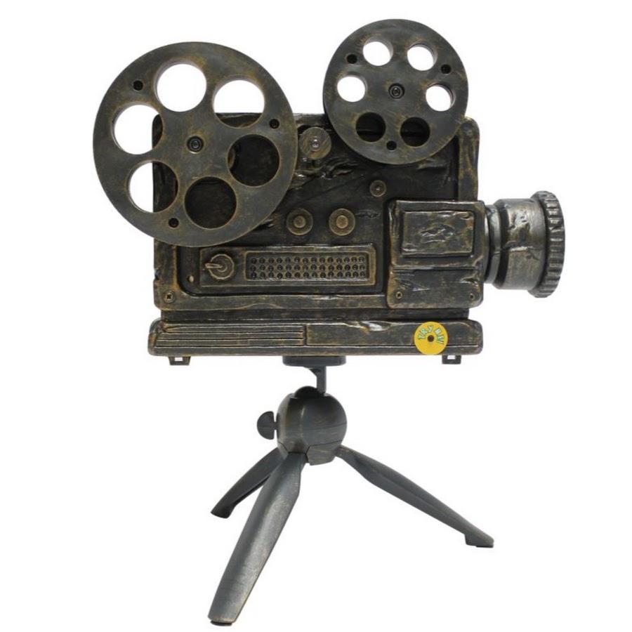 Old time reel film camera