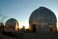 Chabot Space and Science Center scope domes at dusk